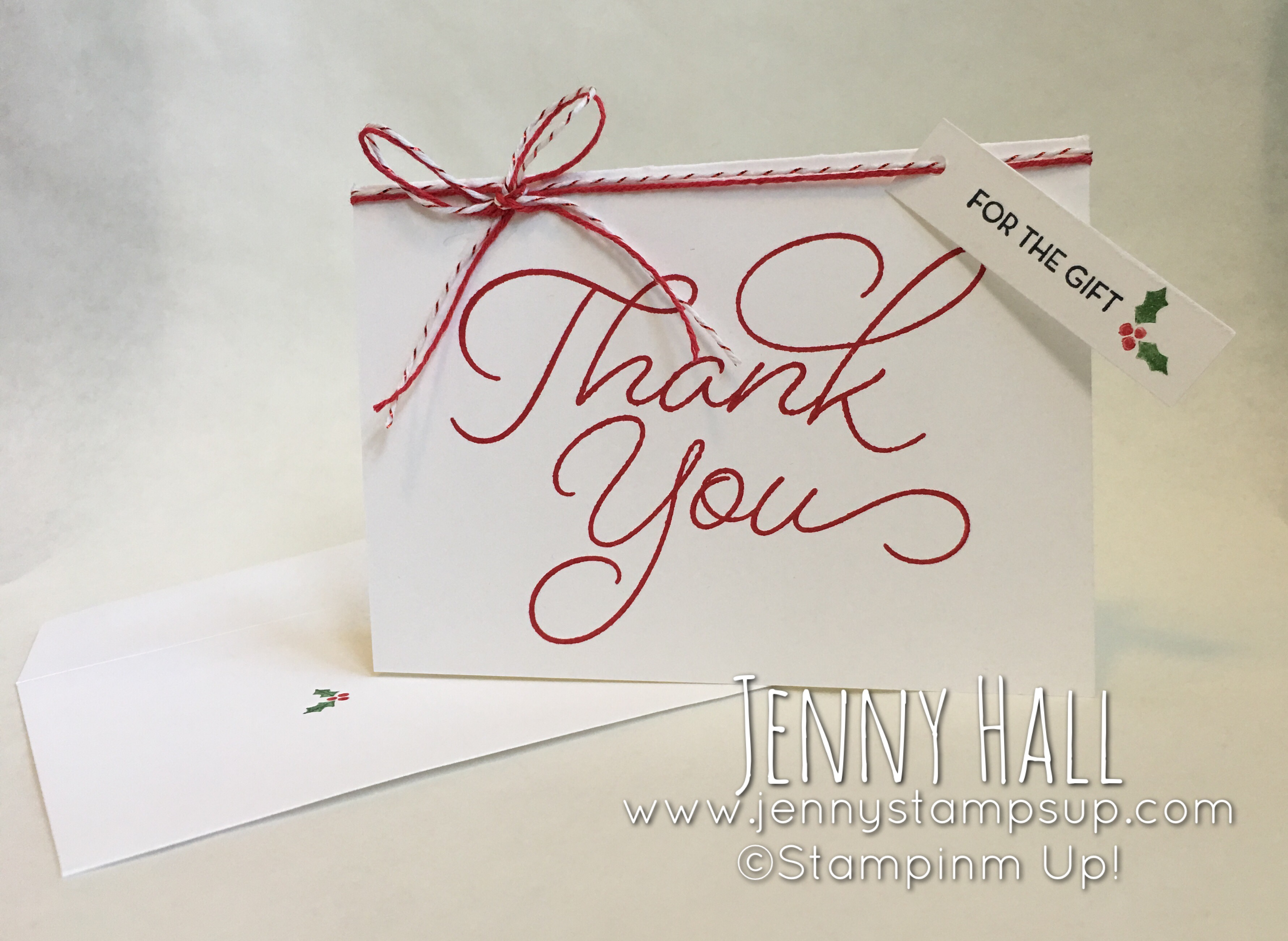 Thank you note card and envelope for gdp066 jenny hall designs here is a list of supplies i used to make this card project links are here that you can click to get product info and purchase items as well thank you for kristyandbryce Choice Image