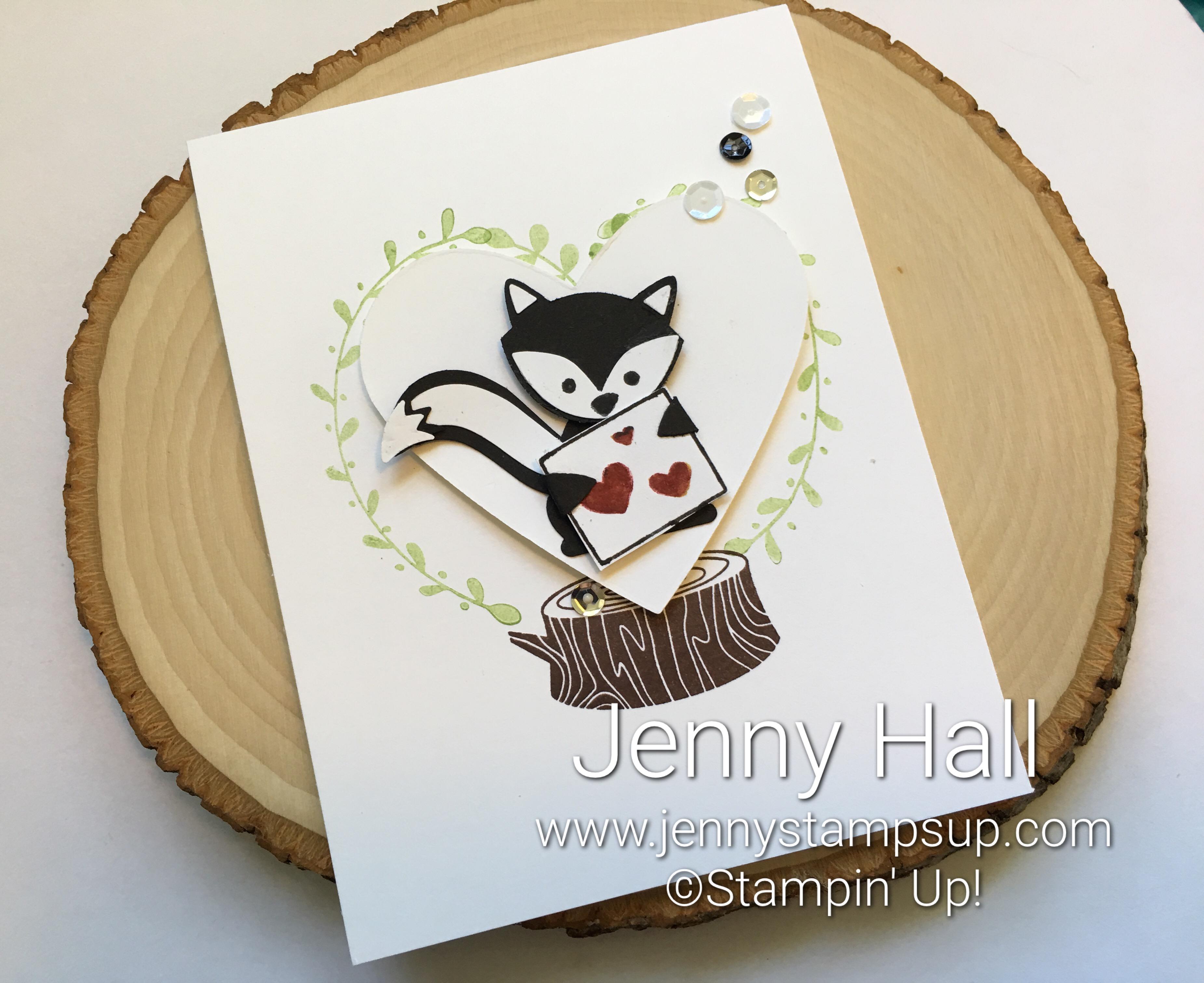Foxy Friends skunk valentine card with video - Jenny Hall ...
