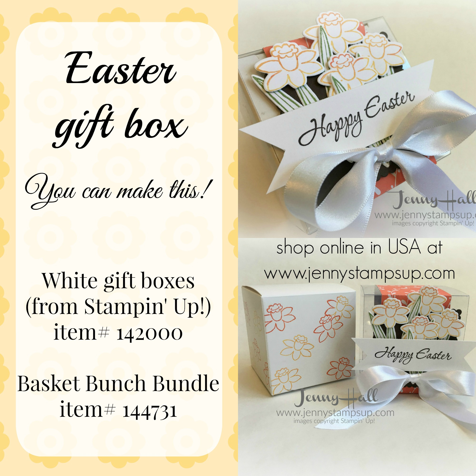 How to decorate a gift box for easter with video jenny hall designs decorated easter gift box by jenny hall jennystampsup negle Gallery