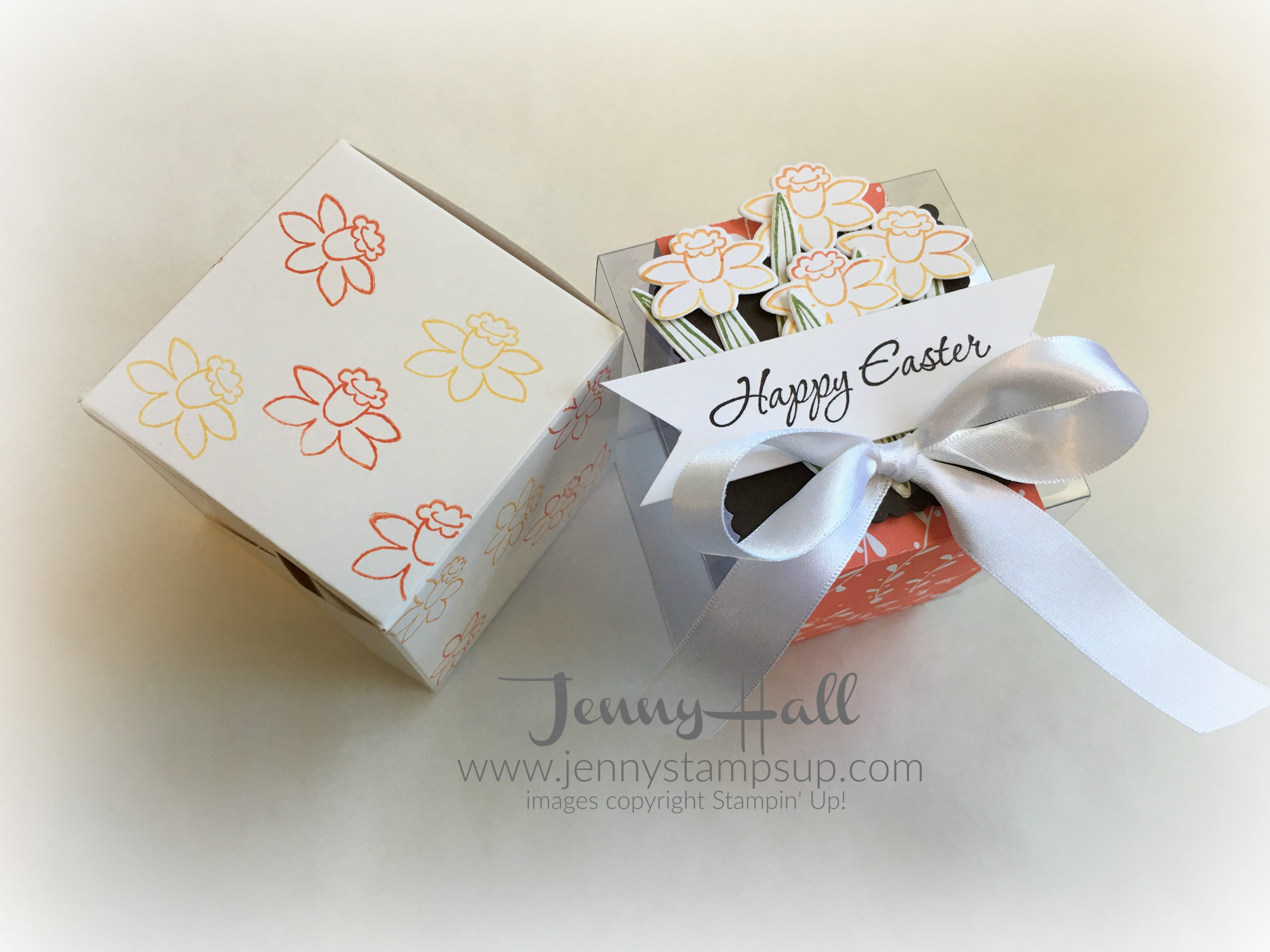 How to decorate a gift box for easter with video jenny hall designs decorated easter gift box by jenny hall jennystampsup negle Image collections