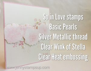 Waterclored flowers with So In Love stamps by Jenny Hall www.jennystampsup.com