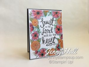 Watercolor Pencils on a coloring page with Jenny Hall www.jennystampsup.com