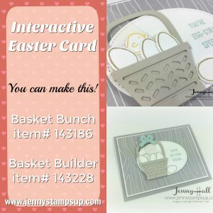 Basket Bunch Easter card by Jenny Hall www.jennystampsup.com