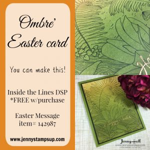 Ombre Easter card by Jenny Hall www.jennystampsup.com