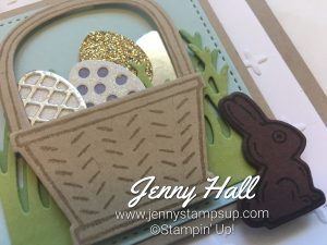 Easter card made with Basket Bunch Bundle by Jenny Hall at www.jennystampsup.com