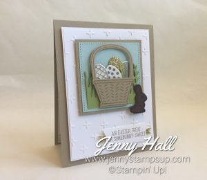 retiring dies Easter card made with Basket Bunch Bundle by Jenny Hall at www.jennystampsup.com