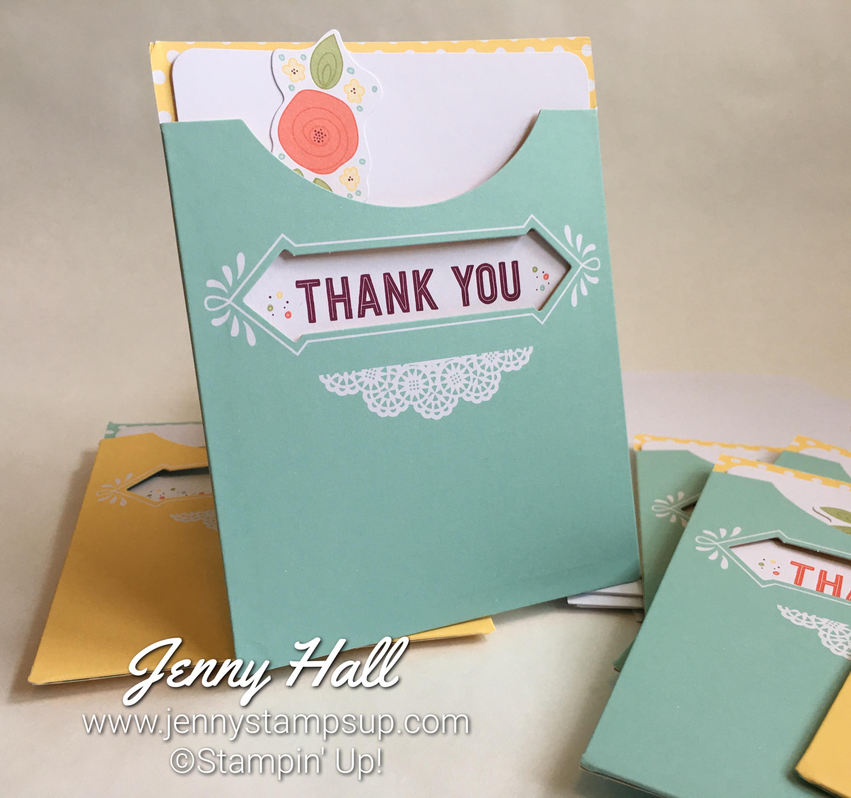 Pretty Pocket card kit with Jenny Hall www.jennystampsup.com