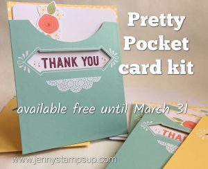 Pretty Pocket card kit with Jenny Hall www.jennystampsup.com
