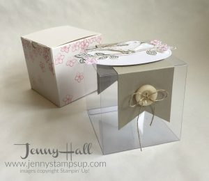Decorated gift box by Jenny Hall at www.jennystampsup.com