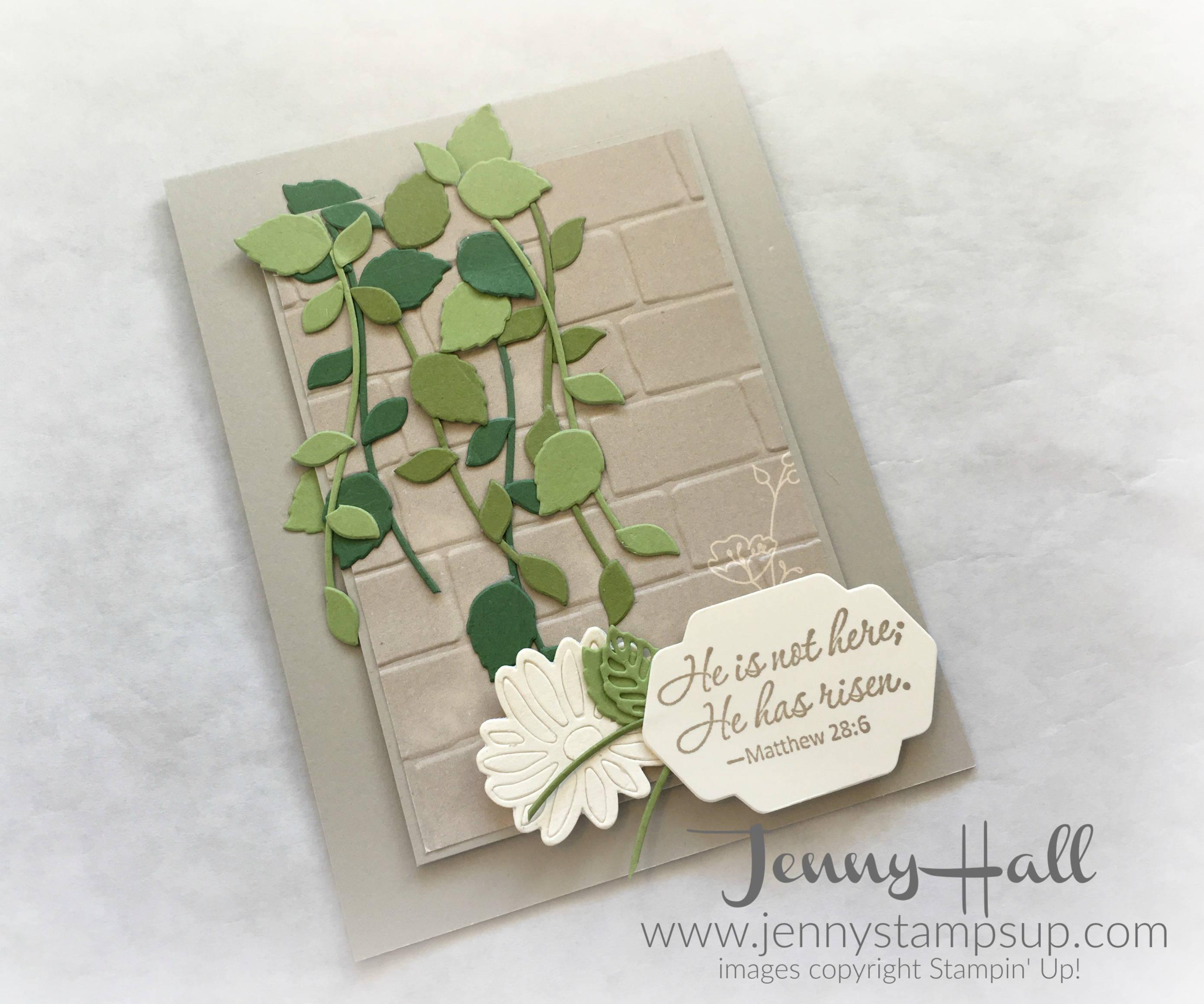 Easter Greenery card by Jenny Hall www.jennystampsup.com
