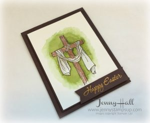 watercolor easter card by Jenny Hall www.jennystampsup.com