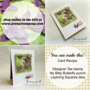 Punched and die cut shapes from watercolor paper by Jenny Hall at www.jennystampsup.com