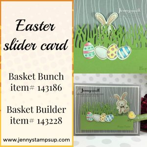 Basket Bunch Easter slider card by Jenny Hall www.jennystampsup.com