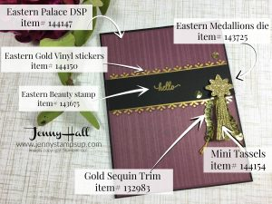 Eastern Palace stickers and tassel by Jenny Hall www.jennystampsup.com