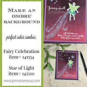 Fair Celebration ombre by Jenny Hall www.jennystampsup.com