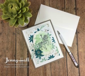 Color puddles by Jenny Hall www.jennystampsup.com