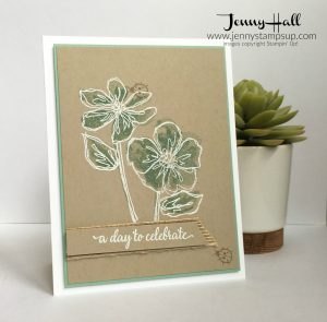 White Heat Embossing by Jenny Hall www.jennystampsup.com