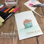 Basket of Wishes watercolor pencils by Jenny Hall at www.jennystampsup.com