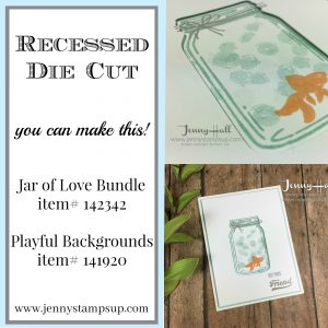 Creating a recessed die cut by Jenny Hall www.jennystampsup.com