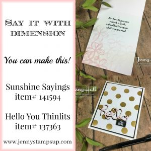 Large die cut sentiments by Jenny Hall www.jennystampsup.com