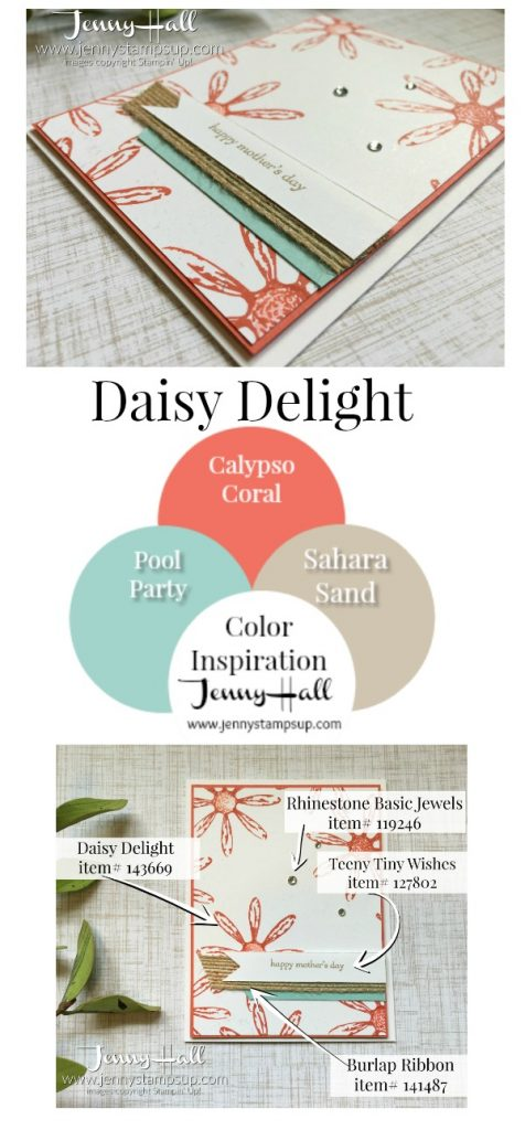 Daisy Delight mother's day card by Jenny Hall www.jennystampsup.com