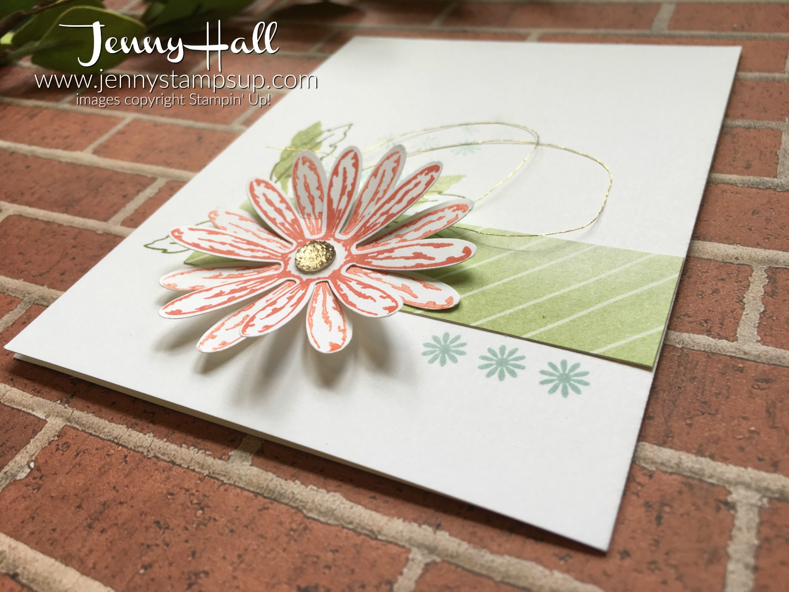One Layer Daisy card