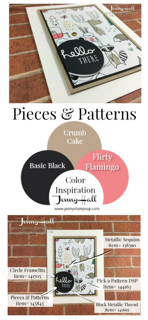 Pieces & Patterns guy card by Jenny Hall www.jennystampsup.com