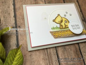simple watercoloring for cardmaking with Stampin Up supplies and free video tutorial at www.jennystampsup.com by Jenny Hall Designs for cardmaking papercrafts stamping and scrapbooking