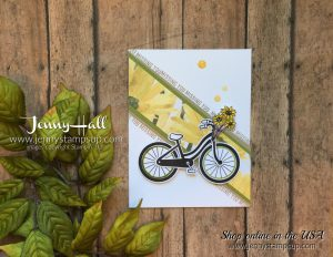Bike Ride stamp set by Jenny Hall Design at www.jennystampsup.com for cardmaking scrapbooking Papercrafts free video tutorials and more