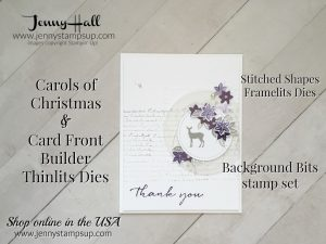 carols of christmas thank you card by Jenny Hall at www.jennystampsup.com