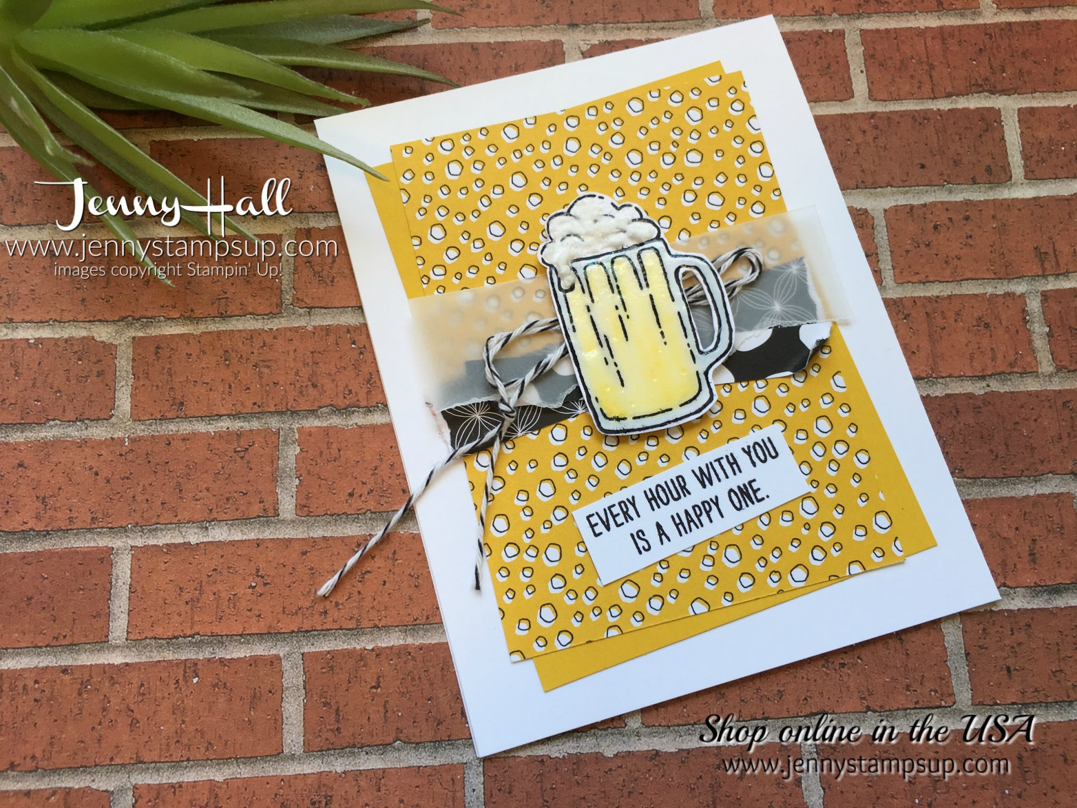 mixed drinks stamp set by Jenny Hall at www.jennystampsup.com