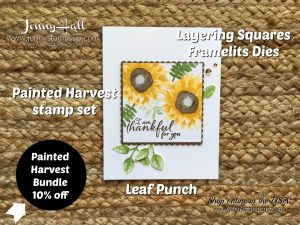 Painted Harvest Bundle card with video by Jenny Hall at www.jennystampsup.com for cardmaking, free video tutorials, papercraft gift giving, scrapbooking and more