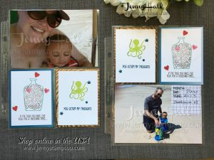 scrapbook with Message in a Bottle by Jenny Hall at www.jennystampsup.com for scrapbooking, cardmaking, papercrafts and video tutorials