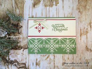 Snowflake Sentiments card by Jenny Hall at www.jennystampsup.com for cardmaking, scrapbooking, video tutorials, papercraft gift giving and free tutorials