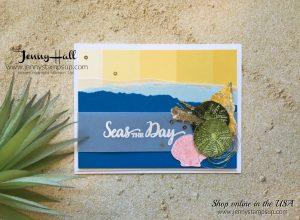 beach theme card by Jenny Hall at www.jennystampsup.com