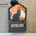 Halloween double z fold box card by Jenny Hall at www.jennystampsup.com for cardmaking, papercrafts, video tutorials, scrapbooking and more
