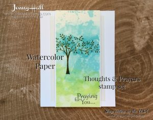 Thoughts & Prayers stamp set for Ink & Inspiration Blog Hop by Jenny Hall at www.jennystampsup.com for cardmaking video tutorials papercrafts scrapbooking and more