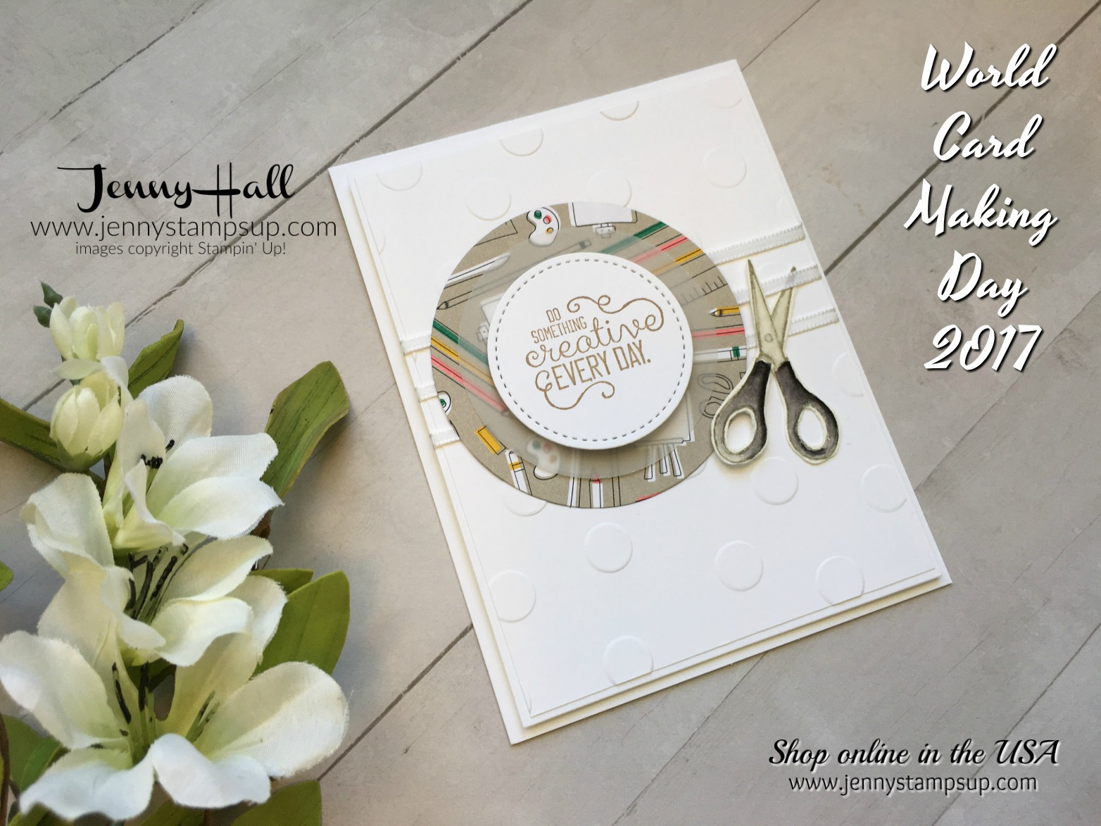 world card making day blog hop by Jenny Hall at www.jennystampsup.com