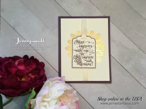 Half Full stamp set card by Jenny Hall at www.jennystampsup.com for cardmaking, papercraft gift giving, watercolor, free video tutorials and more!