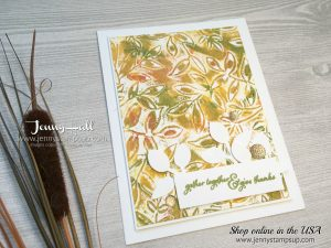 CAS Fall card by Jenny Hall at www.jennystampsup.com for cardmaking, scrapbooking, papercraft gift giving, process video tutorials and more