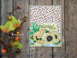 Fun Fold card with Painted Harvest by Jenny Hall at www.jennystampsup.comm for cardmaking, papercraft gift giving, scrapbooking, video tutorials and more!