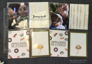 Fall theme scrapbook pocket pages by Jenny Hall at www.jennystampsup.com for scrapbooking, cardmaking, video tutorials and more!