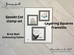 Spooky Cat Stampin Up by Jenny Hall at www.jennystampsup.com for cardmaking, scrapbooking, papercraft gift giving, process video tutorials and more!