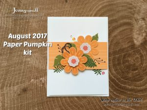August 2017 Paper Pumpkin kit alternative card by Jenny Hall at www.jennystampsup.com for cardmaking, scrapbooking, papercrafts, free video tutorials and more!