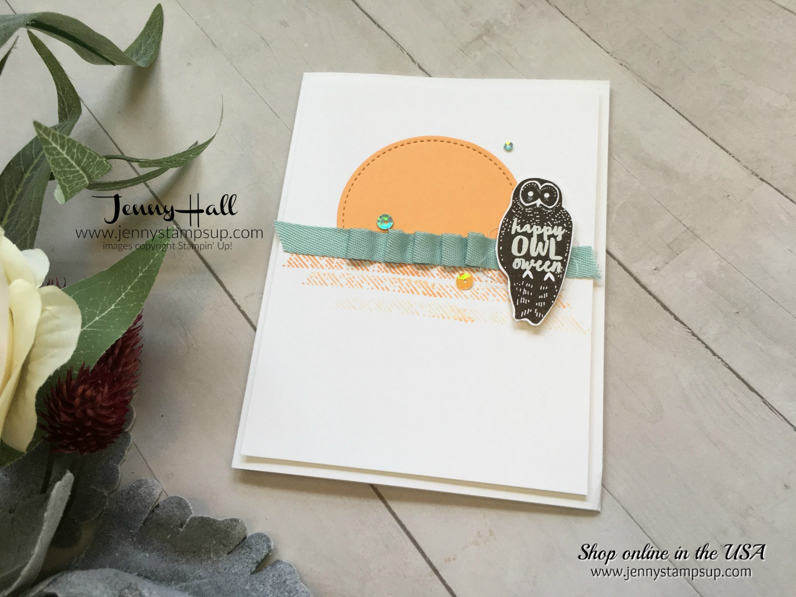 Not so spooky cat card by Jenny Hall at www.jennystampsup.com for cardmaking, free video tutorials, papercrafting, gift packaging, scrapbooking and more!