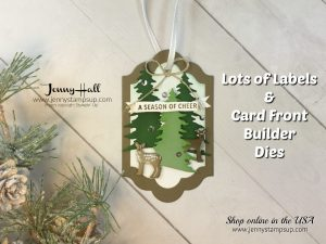 2017 Christmas Ornament Series project #1 by Jenny Hall at www.jennystampsup.com for cardmaking, arts and crafts supplies, video tutorials, papercraft gift giving and more!