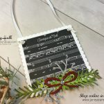 2017 Christmas Ornament Tutorial Series project #2 by Jenny Hall using Stampin' Up! products at www.jennystampsup.com for cardmaking, video tutorials, scrapbooking, papercraft gift giving and more!