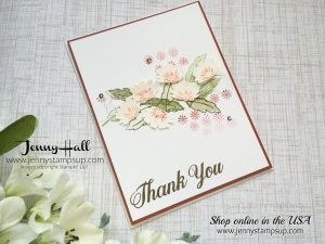 Crazy Crafters Blog Hop Guest Designer card with daisies by Jenny Hall at www.jennystampsup.com for cardmaking, scrapbooking, video tutorials, papercraft gifts and more!