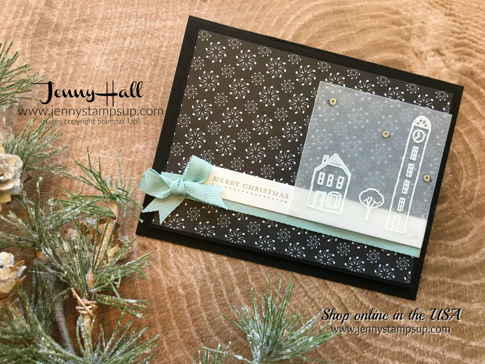 OSAT November Blog Hop card by Jenny Hall at www.jennystampsup.com for Stampin' Up! products, cardmaking, papercraft gifting, free video tutorials, scrapbooking and more!