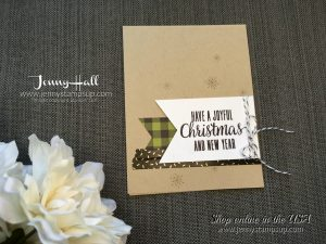 Washi tape + October 2017 Paper Pumpkin Kit card made for Stamp Ink Paper Challenge #122 by Jenny Hall at www.jennystampsup.com for cardmaking, video tutorials, papercraft gift giving, video tutorials and Stampin' Up! products!
